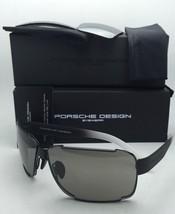 New PORSCHE DESIGN Titanium Sunglasses P'8580 A 70-10 Black Frames w/2 Lens Sets