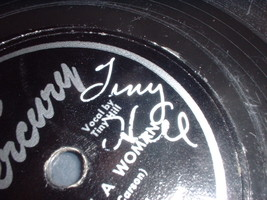 78RPM Mercury AUTOGRAPHED Tiny Hill Never Trust a Woman / Eight Ball rec... - $13.81