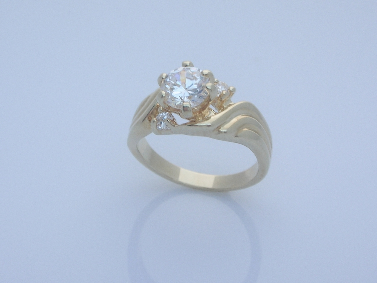 Engagement Promise Ring Wave Band  Size 6