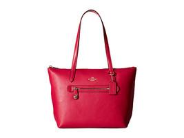 Coach Light/Cerise Pebble Leather/Fabric Lining... - $349.99