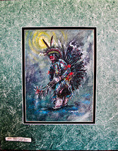 Navajo painting by Navajo artist Edward A. Walk... - $123.75