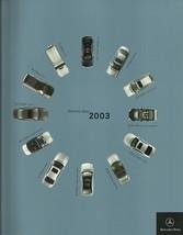 2003 MERCEDES-BENZ full-line brochure catalog US 03 C CL E G S SL SLK  - $8.00
