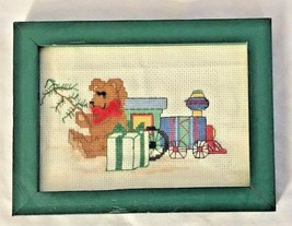 "Green Framed 6X8"" Finished Sewing Cross Stitch ... - $7.07"