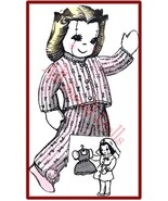 "Vintage 9 1/2"" Cloth Doll Pattern~Nurse Outfit & More - $5.99"