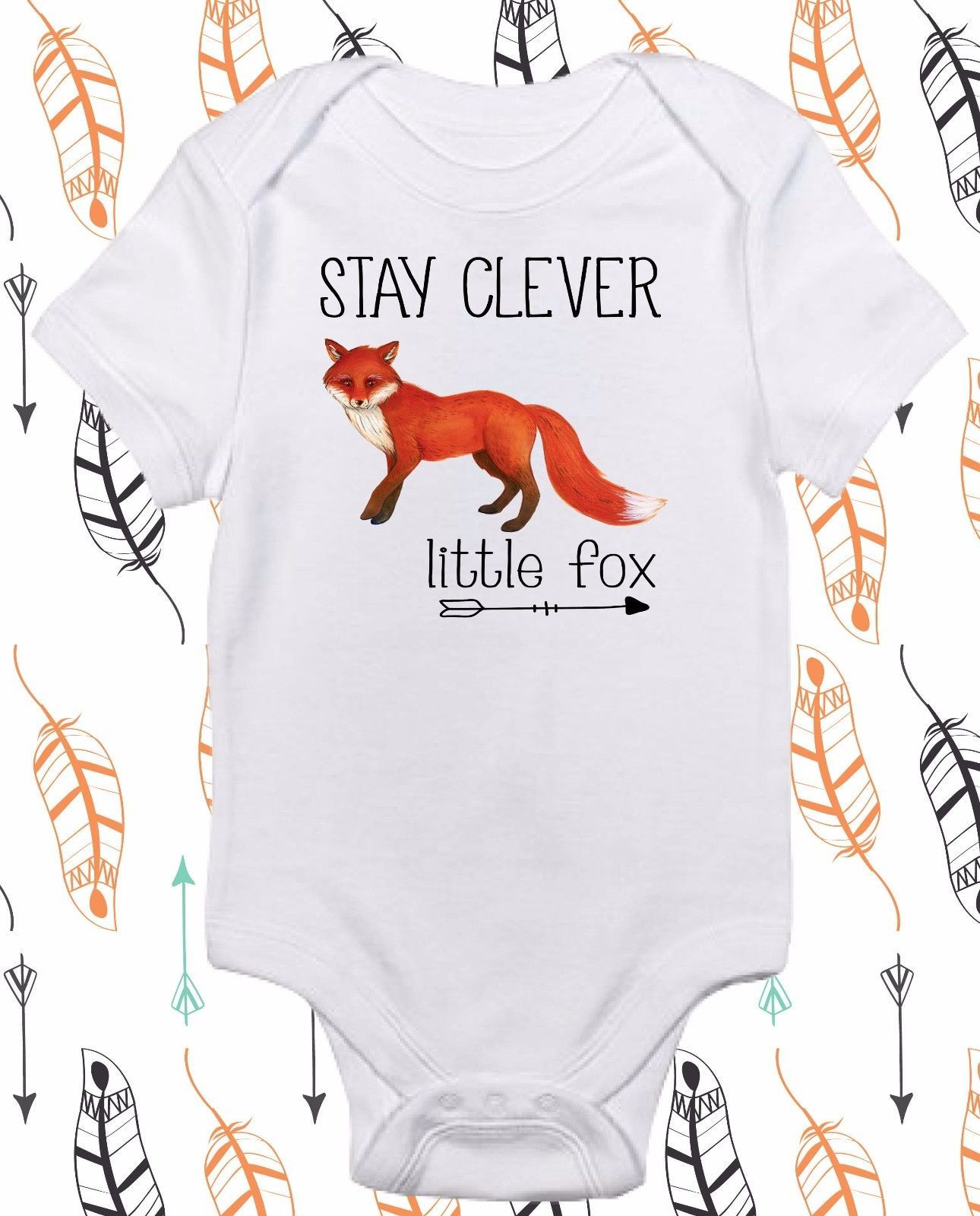 Stay Clever Little Fox Tribal Fox Cute Baby Clothes