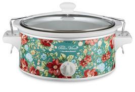 Pioneer Woman 6qt Portable Slow Cooker Crock Pot Vintage Floral Cooking ... - $888,96 MXN