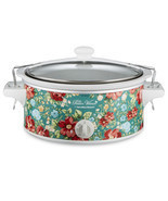 Pioneer Woman 6qt Portable Slow Cooker Crock Pot Vintage Floral Cooking ... - £33.81 GBP