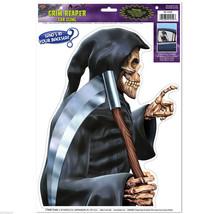 1 Creepy Skeleton Grim Reaper Backseat Driver Car Window Cling Halloween... - $5.65