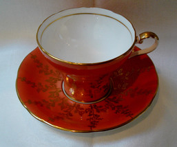 VINTAGE AYNSLEY BONE CHINA MADE IN ENGLAND PEACH WITH GOLD LEAVES C/464 - $19.99