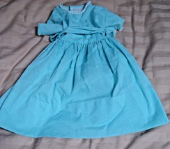 VINTAGE BLUE POLKA DOT DOLL DRESS - $6.35