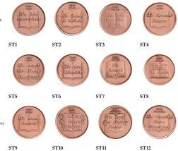 Set of 12 Copper Step Medallions Copper Sobriety Medallion Set AA NA Recovery  - $31.99