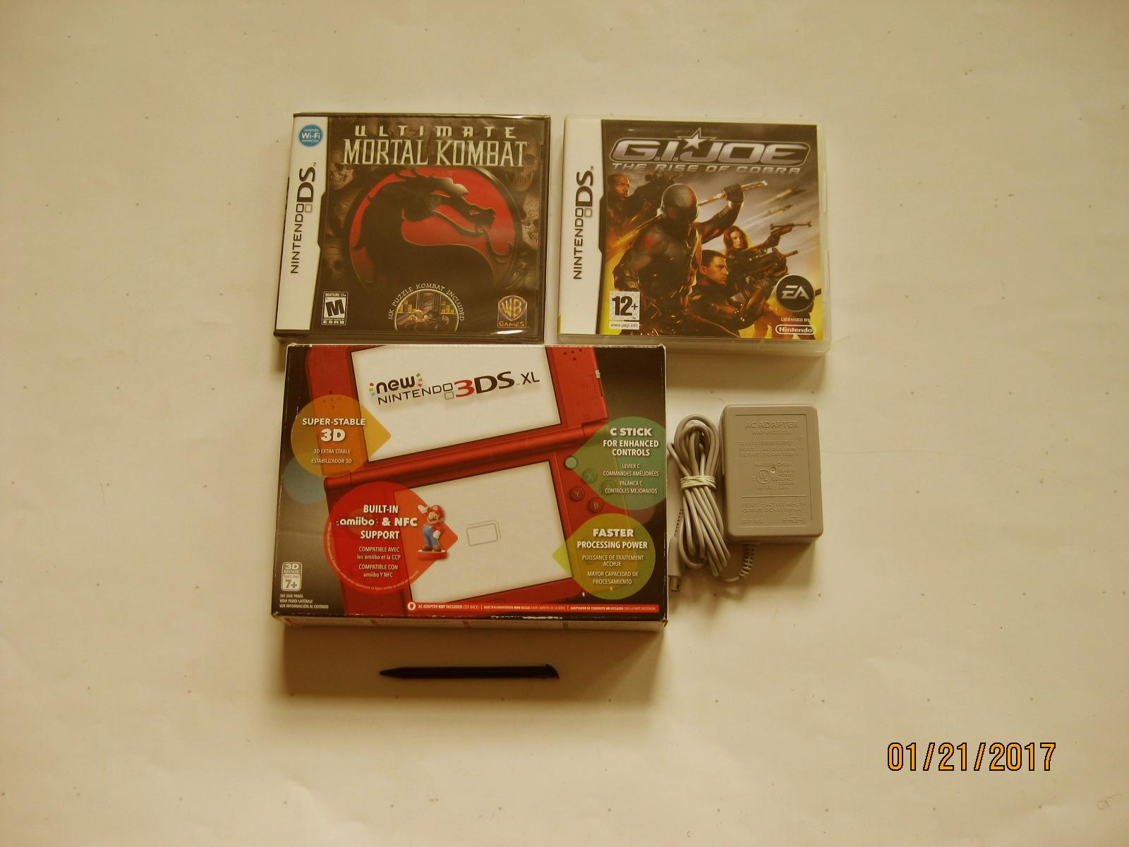 Primary image for Red Nintendo New 3ds xl w Ultimate Mortal Kombat  & More!!!