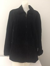 Coldwater Creek XL Black Leather Suede Jacket - $28.70