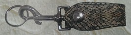USA MADE - Genuine RATTLESNAKE Skin Key Ling Loop HEAVY-DUTY Teardrop Shape - $29.39
