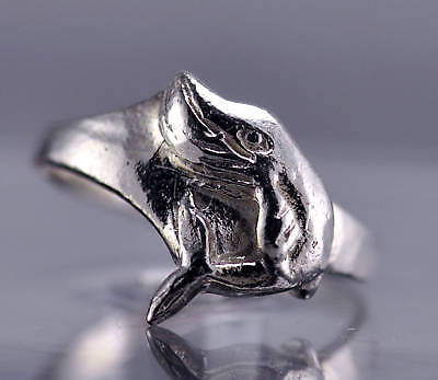 beluga white whale Sterling silver 925 ring jewelry sea
