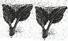 Tree Leaves leaf Sterling Silver Stud Earring Jewelry - $19.78