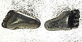Foot feet prints Sterling Silver Stud Earring Jewelry - $19.78