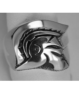 Trojan Soldier Warrior SPARTAN 300 gladiator Head Sterling silver ring J... - $64.99