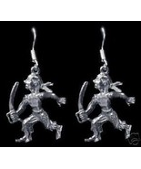 New 3D Sterling Silver Pirate Sword Earrings Jewelry - $30.63