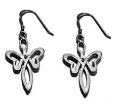 New Moon Goddess Earrings Celtic Infinity Knot Jewelry - $30.42