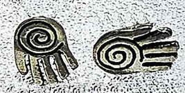 Celtic hand spiral Sterling Silver Stud Earring Jewelry - $19.78