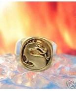 Solid 10K Gold Heavy Mortal Kombat Ring Dragon Jewelry - $439.01+
