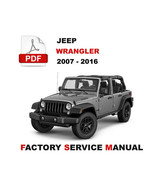 2007 - 2016 JEEP WRANGLER SERVICE REPAIR WORKSHOP MAINTENANCE MANUAL - $14.95