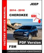 2014 2015 2016 JEEP CHEROKEE SERVICE REPAIR WORKSHOP MAINTENANCE MANUAL ... - $14.95