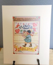 "Mary Engelbreit Print Matted 8 x 10 ""For You With Love"" - $16.40"