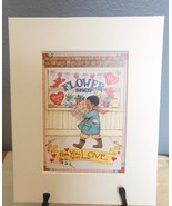 """Mary Engelbreit Print Matted 8 x 10 """"For You With Love"""" - $16.40"""