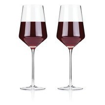 Clear Wine Glasses, Elegant Raye Crystal Bordeaux Insulated Wine Glass, ... - €26,62 EUR