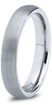 4MM Tungsten Ring Brushed Dome Comfort Fit Wedding Band Size 4-15  & Half - $35.95