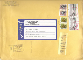 CANADA REGISTERED COMMERCIAL COVER 1988 - Ontario to Texas USA $4.24 pos... - $1.57