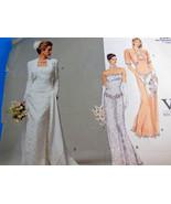 Vintage Vogue Bridal Wedding dress Original 2590 Sz 6-8-10 Uncut Factory... - $15.98