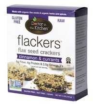 Doctor In The Kitchen, Flaxseed Crackers, Cinnamon and Currants, 5-Ounce - $10.88