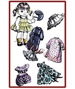 "Vintage Pattern for 9"" Cloth Doll with Wardrobe no.2 - $5.99"