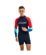 Men Rash Vest Long Sleeves Surf Wear Swimming Black Surfing Guard Swim S... - $24.95