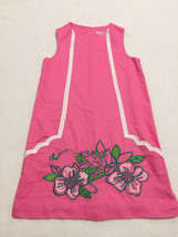 Lilly Pulitzer Girls 10 Pink Frog Fly Bzzz Novelty Shift Dress White Tri... - $29.99