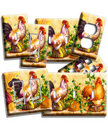 COUNTRY FARM ROOSTER CHICKENS LIGHT SWITCH WALL... - $8.99 - $19.79