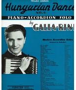 Sheet Music Hungarian Dance No 6 Piano Accordion Solo Galla Rini  - $14.36