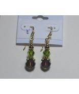 Swarovski earrings: Topaz and olivine earrings - $15.00