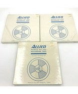 Lot 3 Allied 255 Blank Reel to Reel Recording Tape New Sealed 1800' 15-8... - $28.95