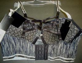 New $30 Daisy Fuentes Women's Sporty Long Line Bra Strappy Back Space Dye 36C image 2