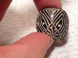 Hand Carved Black Wooden Tribal Pattern Ring Size 5.5 or 7.5 image 5