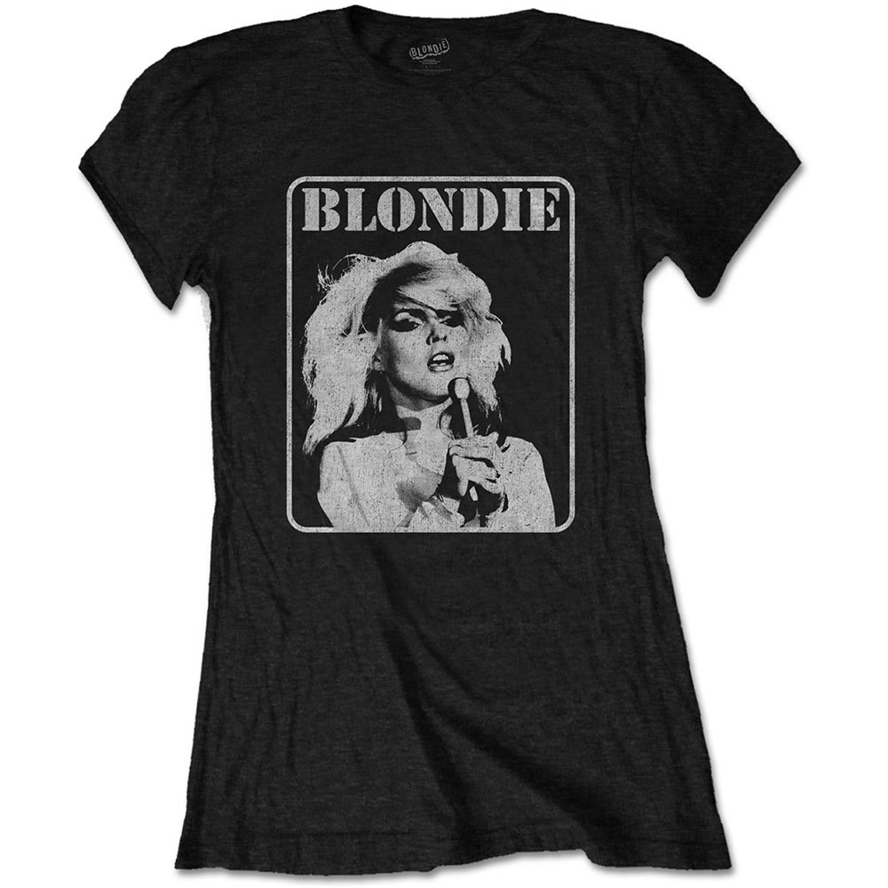 Primary image for Ladies Blondie Debbie Harry 1 Parallel Lines Official Tee T-Shirt Womens Girls