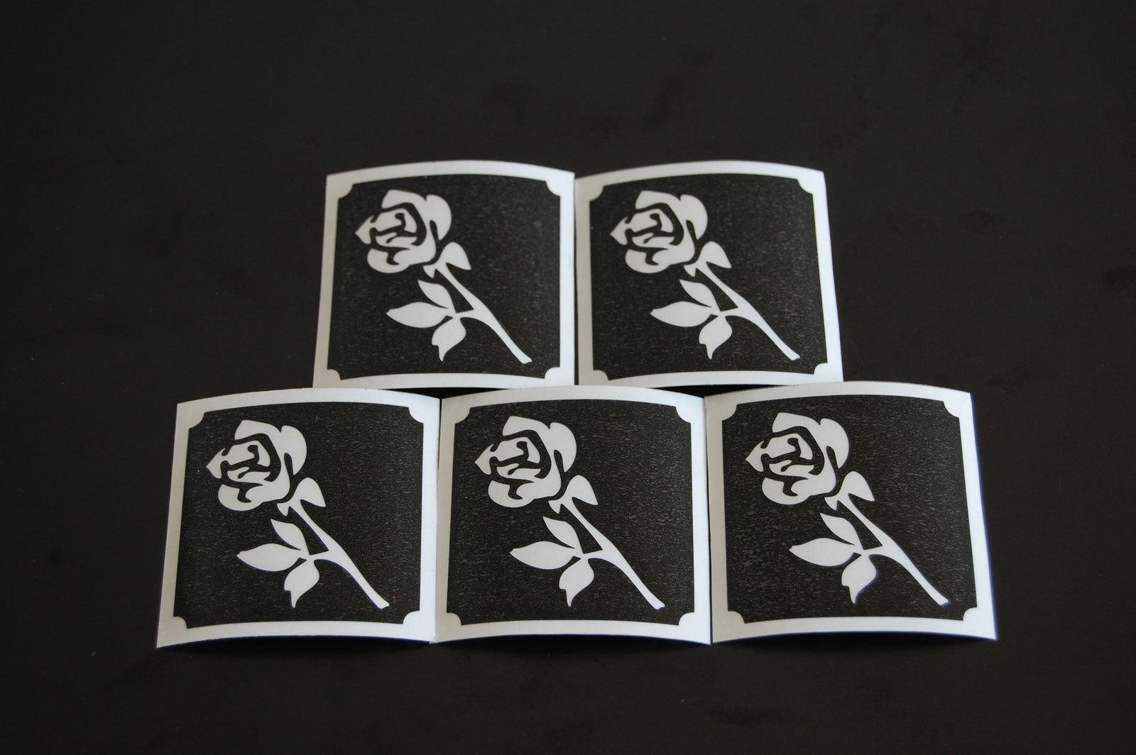 Long Stem Rose Make Up Stencil- 5 Pack