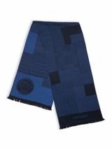 NWT Auth VERSACE Medusa Logo Paneled Multi-Pattern Blue Wool Men's Scarf... - $112.19