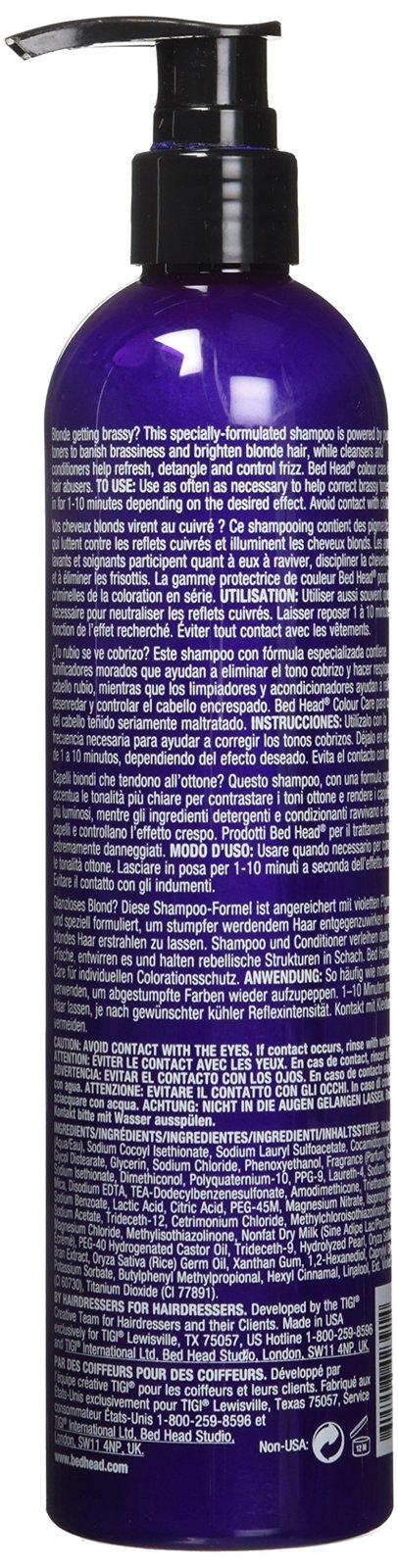 BED HEAD Tigi Dumb Blonde Purple Toning Shampoo, 13.50-Ounce