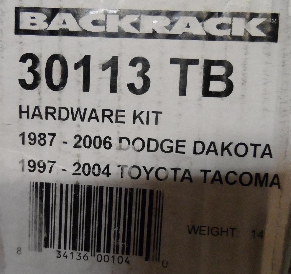 Backrack 30113 Installation Hardware Kit