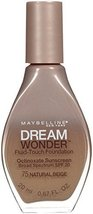 Maybelline New York Dream Wonder Fluid-Touch Foundation, Natural Beige, 0.67 ... - $5.99